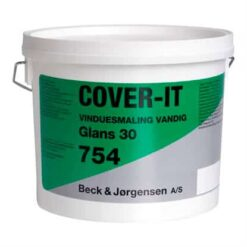 B&J 754 Cover Plus Vandig Vinduesmaling 3 Liter